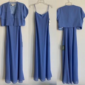 NWT J.R. Nites Modest Periwinkle Gown 12